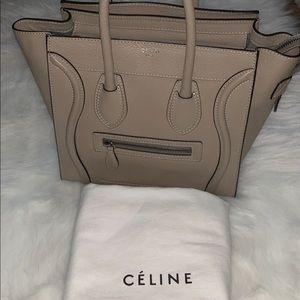 Celine Drummed Calfskin Micro Luggage